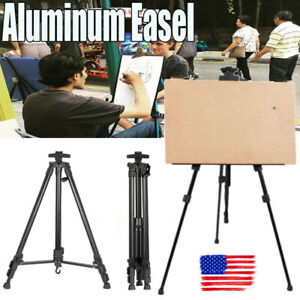 USA-Adjustable-Artist-Aluminium-Alloy-Tripod-Painters-Easel-Stand-w-board-Bag