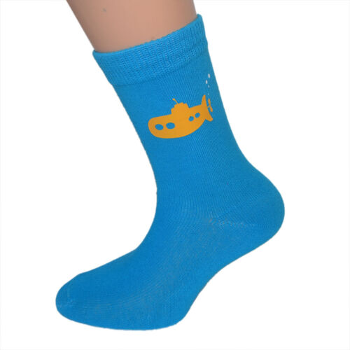 will suit Boy or Girl kids socks Cute Yellow Submarine Design Childrens Socks