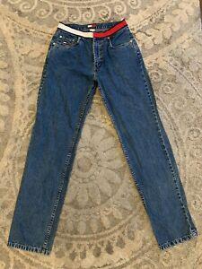 Vintage Tommy Hilfiger De Pierna Recta Jeans Pantalones De Mezclilla Azul Mama Para Mujer Con Logotipo De 8 Ebay