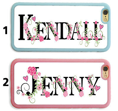 PERSONALIZED NAME PINK FLORAL GIRLY MONOGRAM Case FOR IPHONE 7 6 6S PLUS SE 5S 5