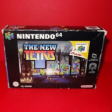 VINTAGE 1999 NINTENDO 64 N64 THE NEW TETRIS CARTRIDGE VIDEO GAME PAL BOXED