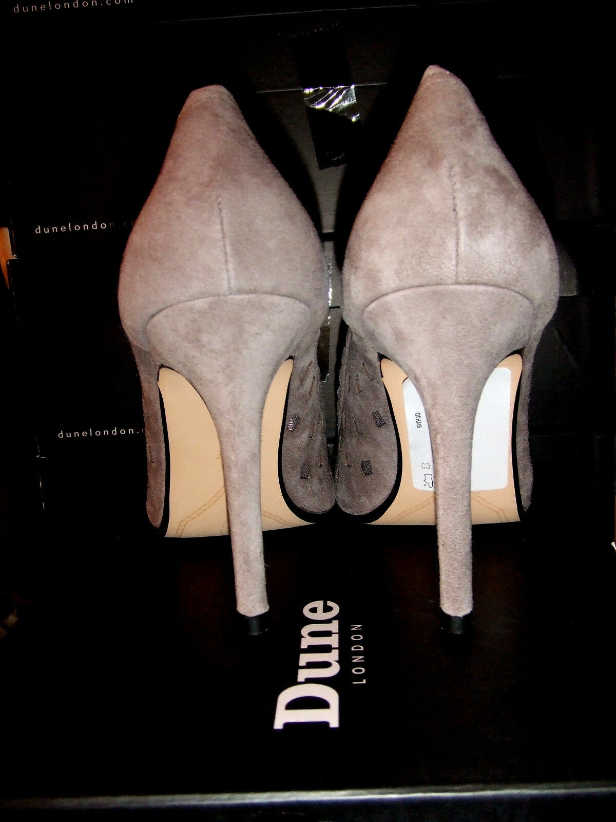 RP  DUNE TAUPE SIZE 4 37 BESSIE TAUPE DUNE MINK REAL LEATHER SUEDE HIGH HEEL COURT Schuhe 2bc5ce