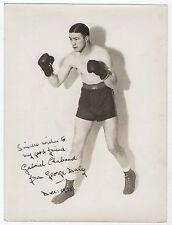 OLD PHOTO DE PRESSE Jeff Dickson GEORGE DALY Dédicace Dédicacée Boxe Boxeur