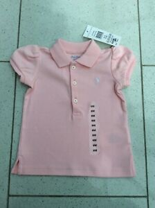 6c8774fa Details about GENUINE RALPH LAUREN BABY GIRLS PINK POLO TOP AGE 6 MONTHS  BNWT