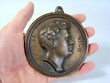 Médaille Plaque Bronze XIX° Victor Noir 1848 - 1870 Journalist Ecrivain TBE