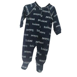 New-England-Patriots-NFL-Apparel-Baby-Infant-Size-Pajama-Sleeper-Bodysuit-W-Tags