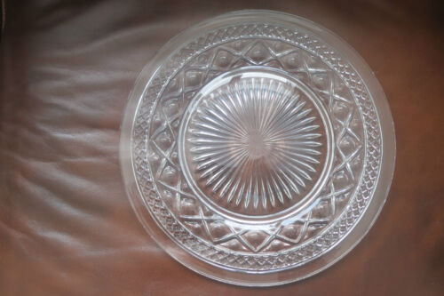 """Vintage Imperial Glass CAPE COD Dinner Plate 10/"""""""