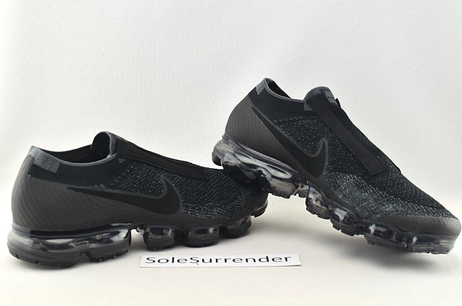 284c66ff8cc Nike Air Vapormax Flyknit SE Laceless Black DK Grey Aq0581 001 Sz ...