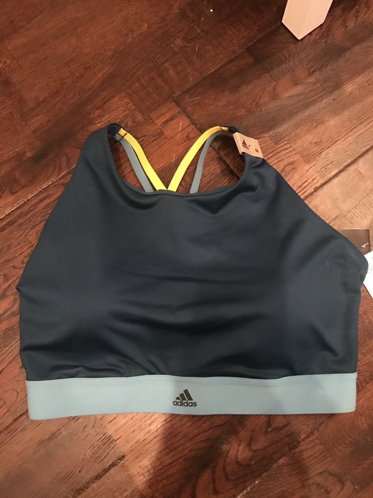 Adidas bluee Halter Bra - SIZE Large C D NEW WITH TAGS