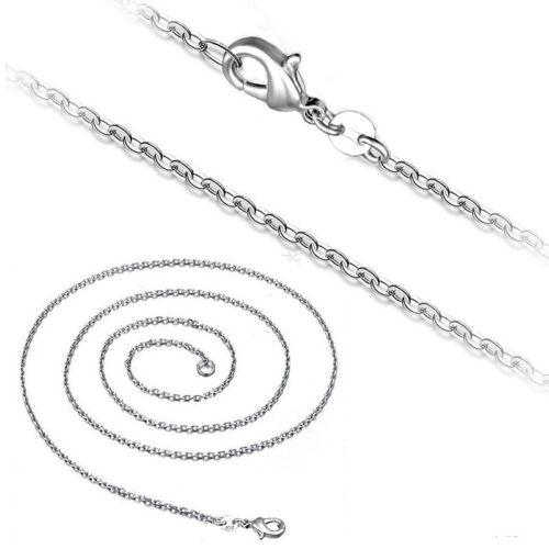 Cadena de anclaje collar 2 mm plata chapados señora caballero cadena para remolque 40-55