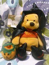 Disney Halloween Witch Winnie The Pooh Plush Bean Bag 7.5