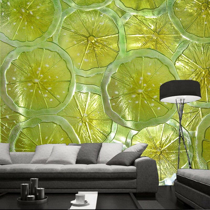 3D Cute Lemon Slices 8 Wall Paper Murals Wall Print Wall Wallpaper Mural AU Kyra