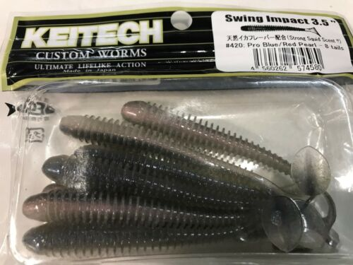 """KEITECH Lures Swing Impact 4/"""" 8 pcs JAPAN Strong scented Drop Shot jig Tackle"""