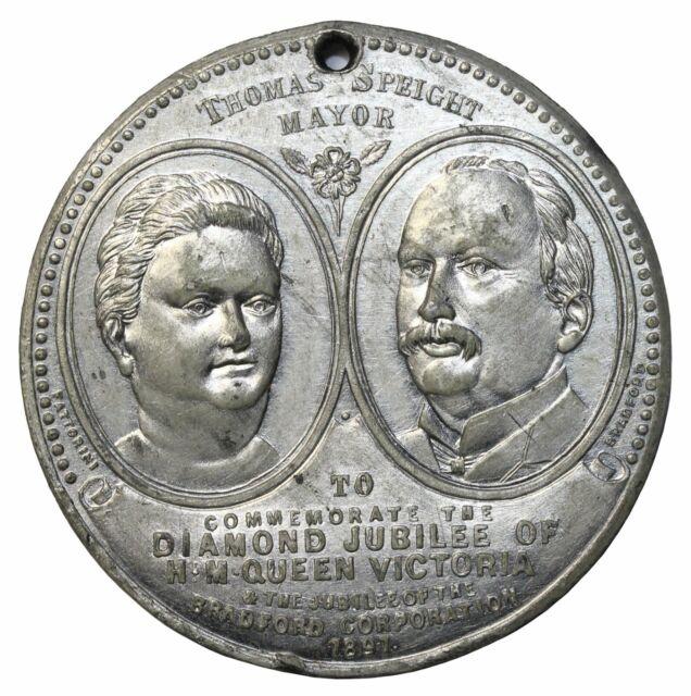 1897 Great Britain Queen Victoria Diamond Jubilee Corporation Of Bradford Medal