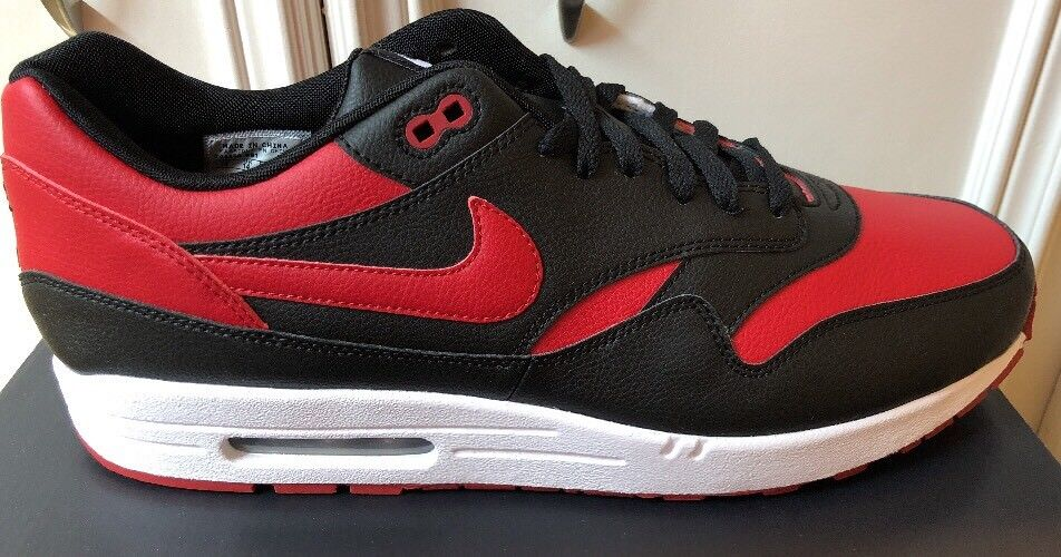 Nike Air Max 1 Nikeid Retro Bred Banned Size Varsity Red Black Size 15 Rare