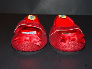 red sparkly prom shoes