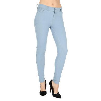 New Ladies Womens Fashion Coloured Skinny Jeggings Leggings Jeans Plus size 8-18