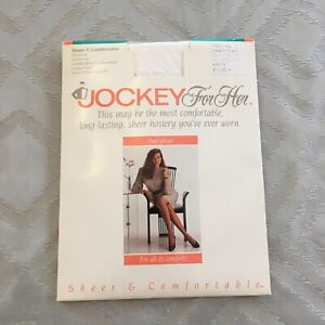 f535b3c65adb7 Jockey for Her size Small Tall White Sheer Comfortable Pantyhose ...
