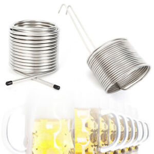 """50/' 3//8/"""" Wort Chiller Coil Stainless Steel Home Brewing Beer Cooling Immersion"""