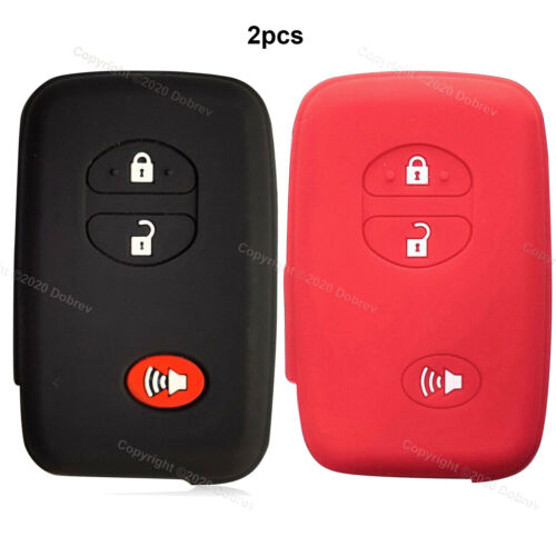 2x 3B Silicone Cover Holder Protector Holder Case for Toyota 4Runner Smart Key