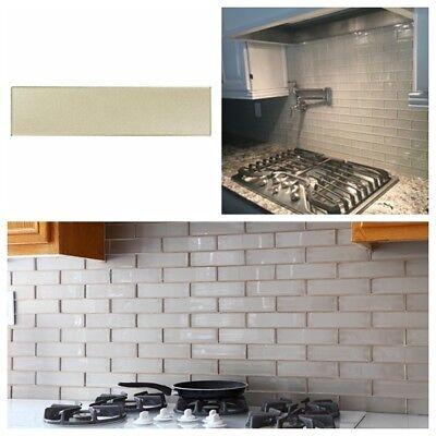 Silver Metallic Glass Subway Tile For Kitchen Backsplash Bathroom Wall 3 X 12 Ebay,Kitchen Cupboard Organizers