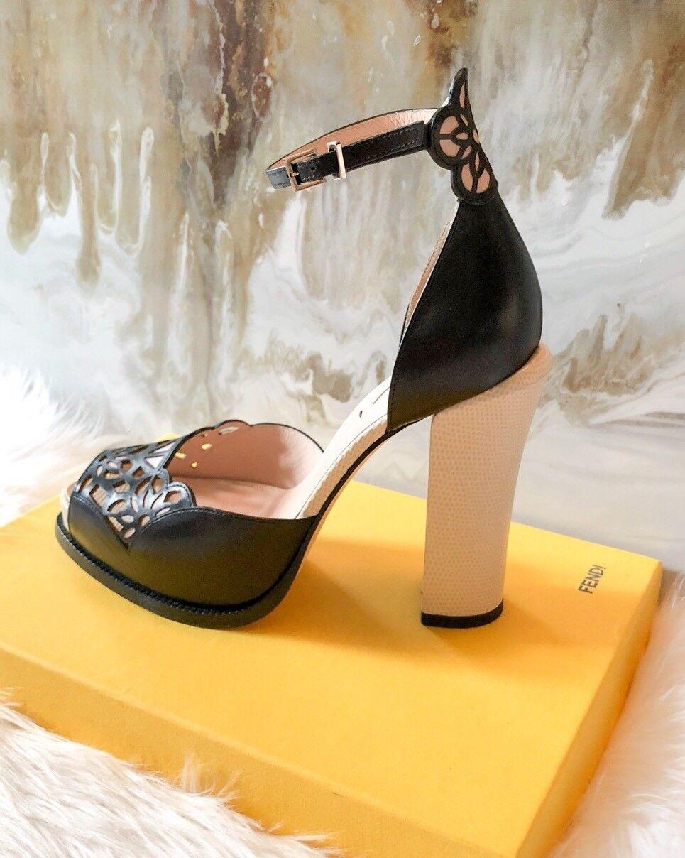 950 Fendi BiFarbe BiFarbe BiFarbe Laser Cut Platform Sandals 2017 Collection e4c88a