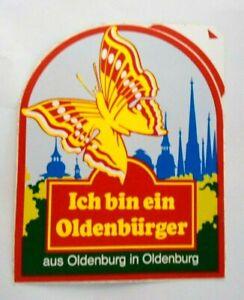 Souvenir-Aufkleber Odenburg Oldb Oldenbürger Hunte Hair Lower Saxony 80er