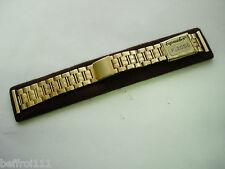 Bracelet doré band strap vintage 20 mm no or 70s moto,type RACING N217