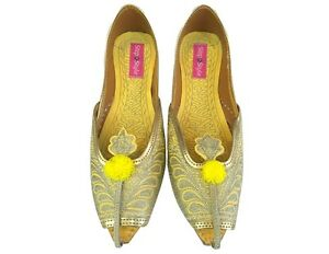 ddbd4eedaa54 US Sequin Bridal Flats Wedding shoes Indian Designer shoes punjabi ...