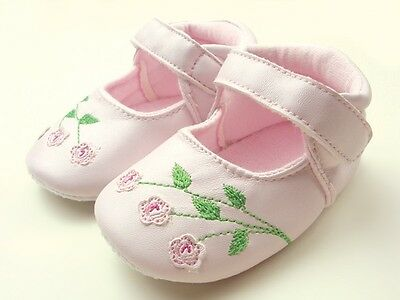 Baby Girl Darling Patent Ballerina Shoes Cream 0-6m Size 1//2