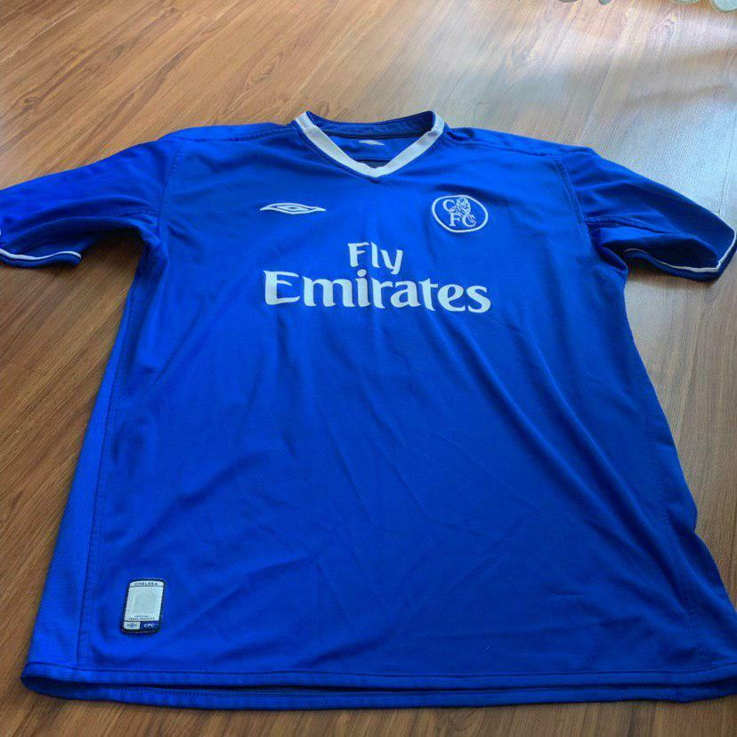CHELSEA LONDON 2003 2004 2005 HOME FOOTBALL SHIRT JERSEY  8 LAMPARD UMBRO