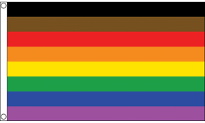 More Colour More Pride 5ft x 3ft Flag Gay Rainbow Festival Flags LGBT Equality