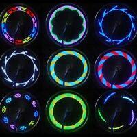 Bicycle Motorcycle Car Bike Tyre Tire Wheel Valve 14 LED Flash Spoke Light Lamp