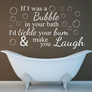Image Is Loading Funny Wall Quote If I Was A Bubble