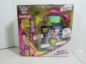 WWE Mattel Bayley Girls Superstars Ultimate Fan Pack-Figure,DVD,Headband