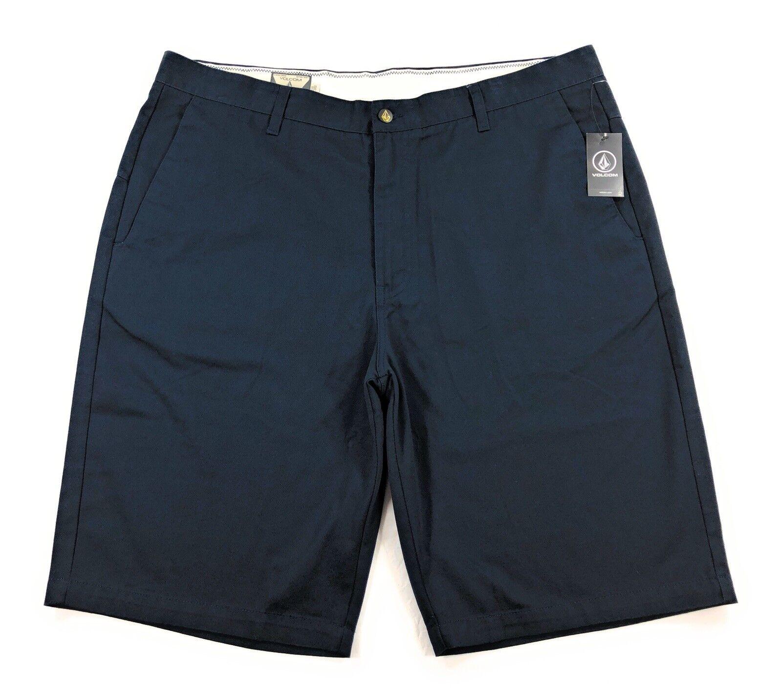 Volcom Vmonty Shorts Mens Navy bluee Flat Front