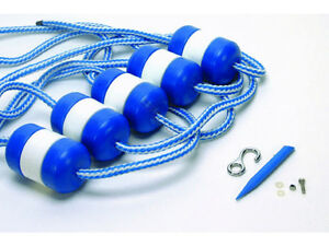 Details about Swimming Pool 20\' Rope And Float Kit W/ Stainless Hook Anchor  & Buoys
