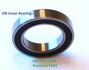 (Qty.4) 6801-2RS Premium 6801 2rs seal bearing 6801 ball bearings 6801 RS ABEC3
