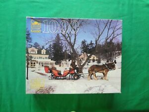 VINTAGE-GOLDEN-GUILD-SLEIGH-RIDE-1000-PIECE-JIGSAW-PUZZLE