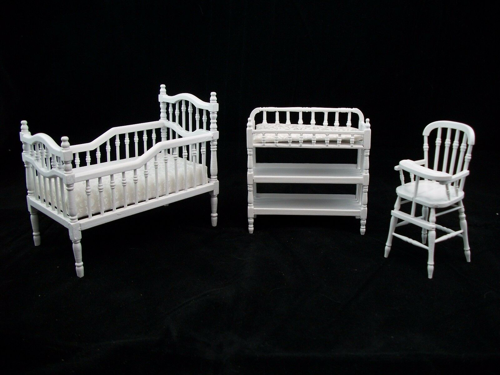Nursery Baby Room Set bianca dollhouse miniature furniture 1 12 scale T5545 3pc