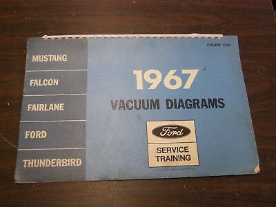 OEM    Ford       1967    Vacuum    Diagram    Book    Mustang    Falcon Fairlane Galaxie    Shop    Manual   eBay
