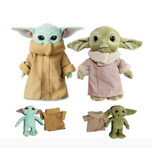 Stars Wars The Mandalorian Baby Yoda Plush Toy Stuffed Doll Cute Xmas Kids Gifts Ebay