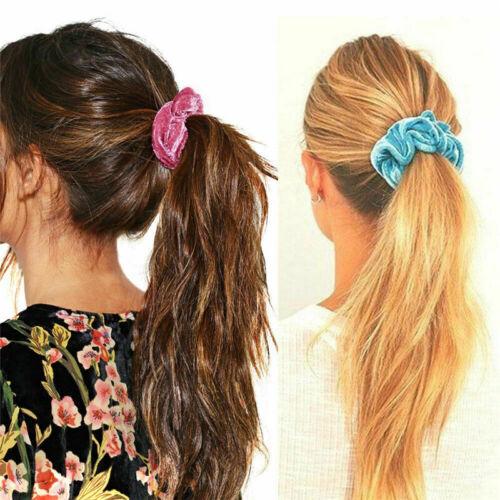 20pcs Sweet Velvet Hair Scrunchies Elastic Hair Bands Ties Rope Ponytail Holder