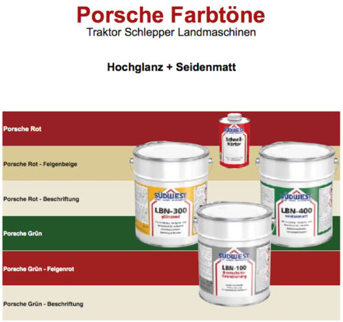 Porsche pintura color tractor remolcador maquinaria agrícola máquinas-premium de pintura