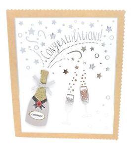 Felicitations-Champagne-Paillette-Mariage-Maison-Travail-Celebration-Carte-de