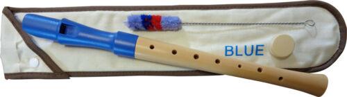 Plastikmundstück blau deutsches Griffweise C-Sopranflöte Blockflöte Flöte Holz