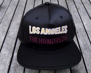 NEW-THE-HUNDREDS-TEAM-LOS-ANGELES-GLOBE-BLACK-MENS-SNAPBACK-HAT-RHTHUN-66