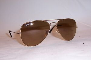 72e80de7a533 NEW RAY BAN AVIATOR Sunglasses 3025 001/M2 GOLD/BROWN 58MM POLARIZED ...