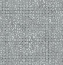 Item 5 Wallpaper Designer Light Gray Silver Metallic Faux Mosaic Tiles Modern Geometric