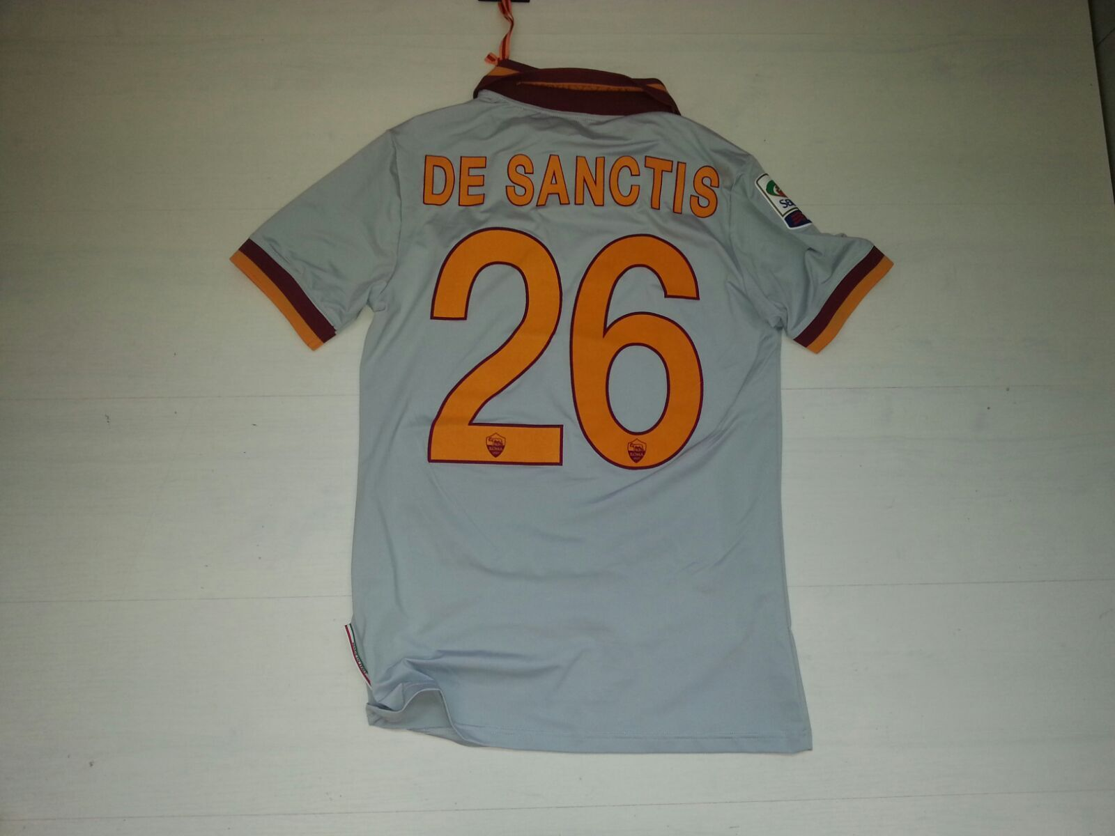 2699 As Roma Cochees de Sanctis Camiseta Portero Gk Shirt gris